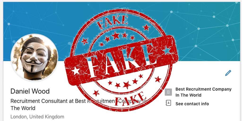 Fake profiles on Linkedin and other social networks